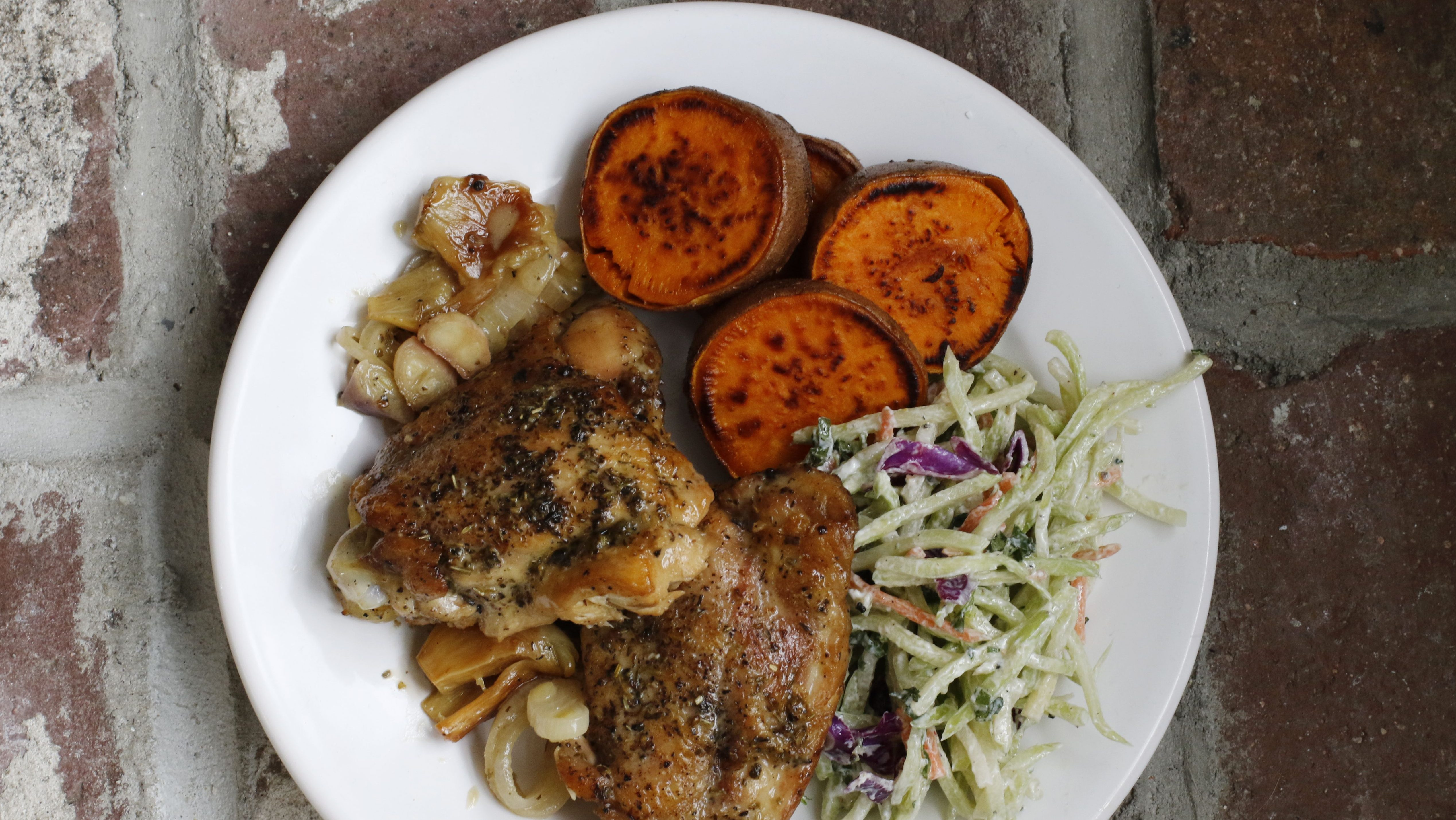This March 7, 2016 photo shows best baked weeknight chicken in Concord, N.H. One-dish baked chicken dishes like this are a reliable and easy way to get dinner on the table fast during the workweek. (AP Photo/J.M. Hirsch)