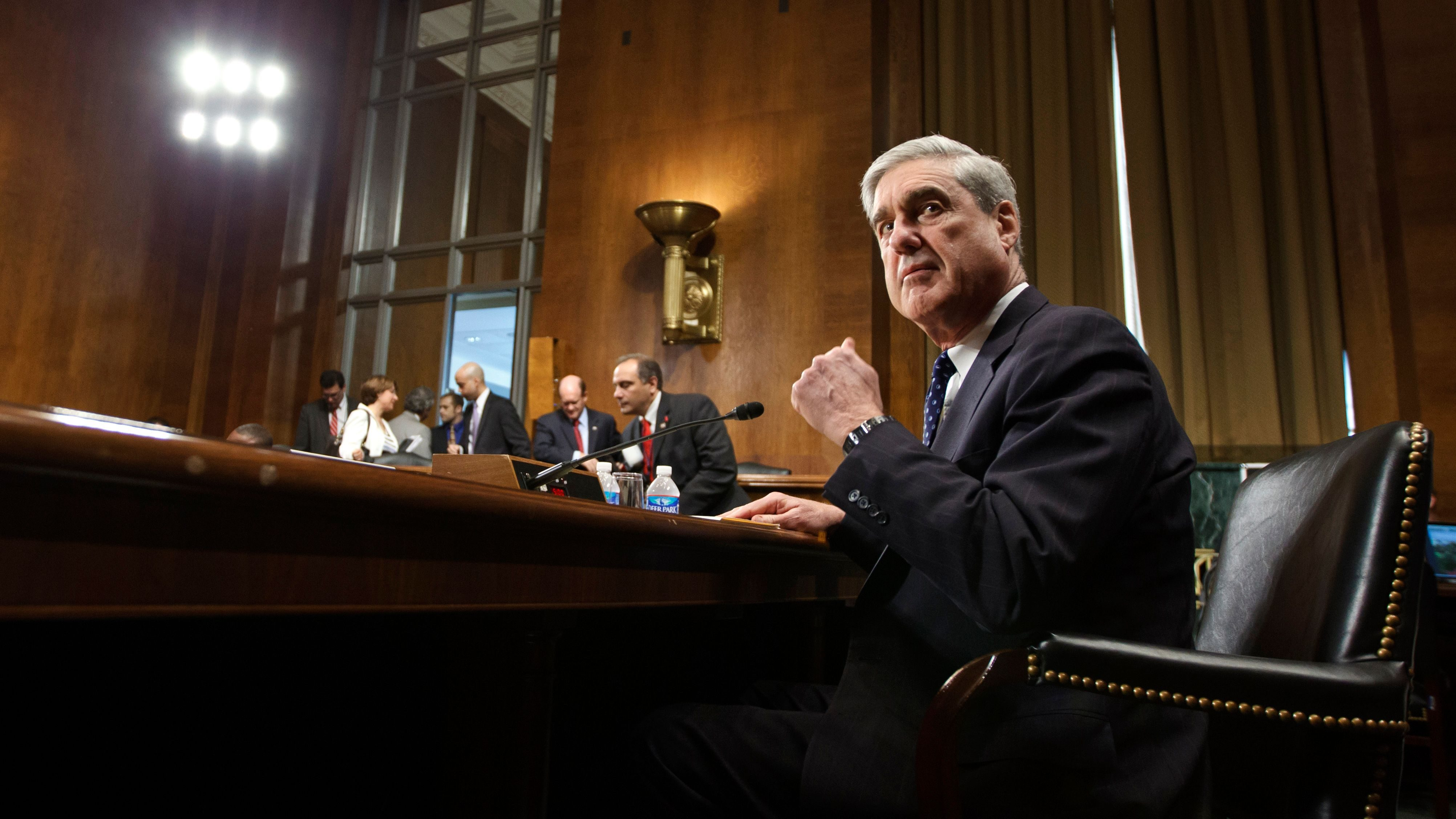 "FBI Director Robert Mueller arrives on Capitol Hill in Washington, Wednesday, May 16, 2012, to testify before the Senate Judiciary Committee hearing: ""Oversight of the Federal Bureau of Investigation.""  (AP Photo/J. Scott Applewhite)"