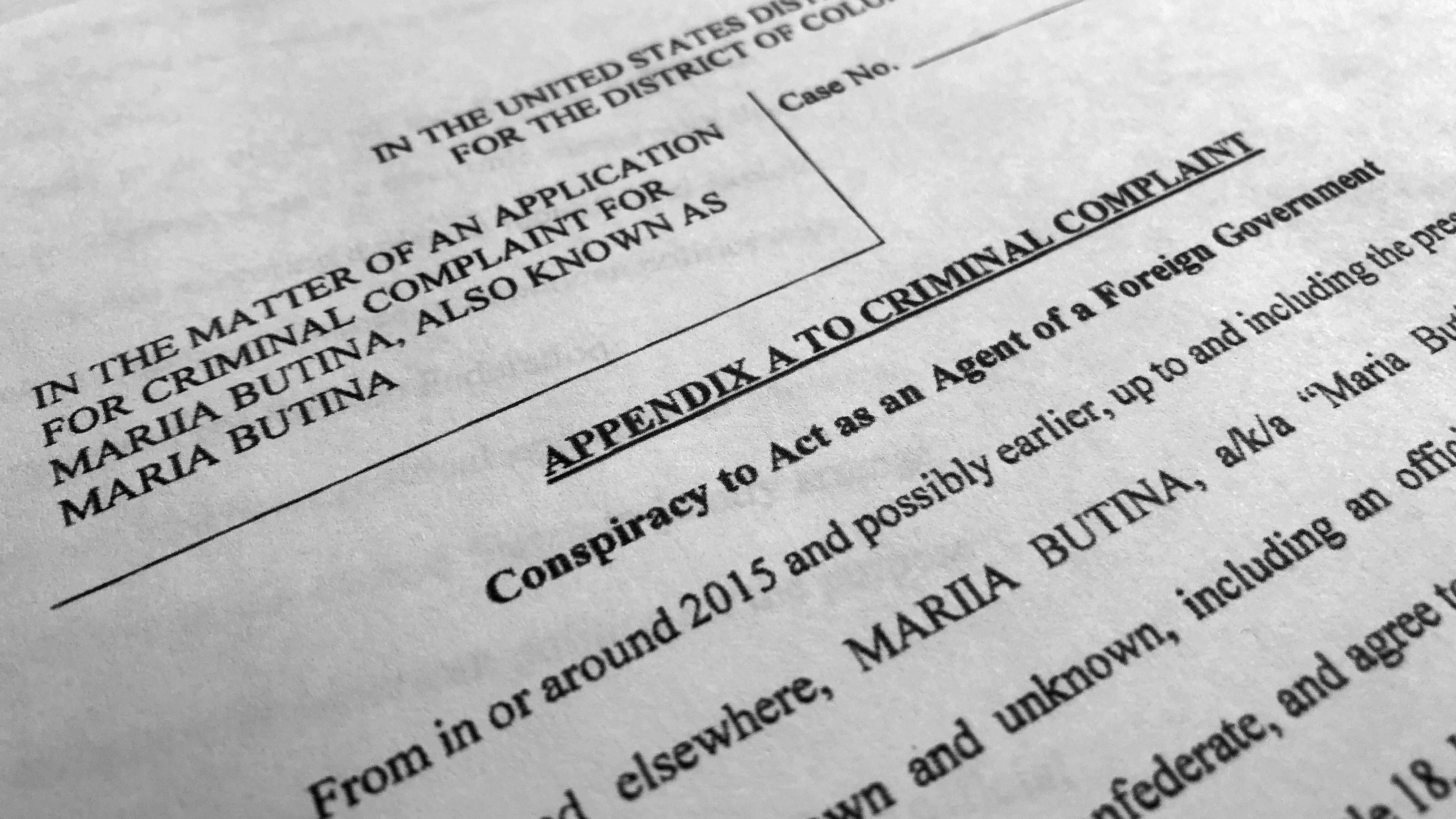 The DOJ charged Maria Butina for spying