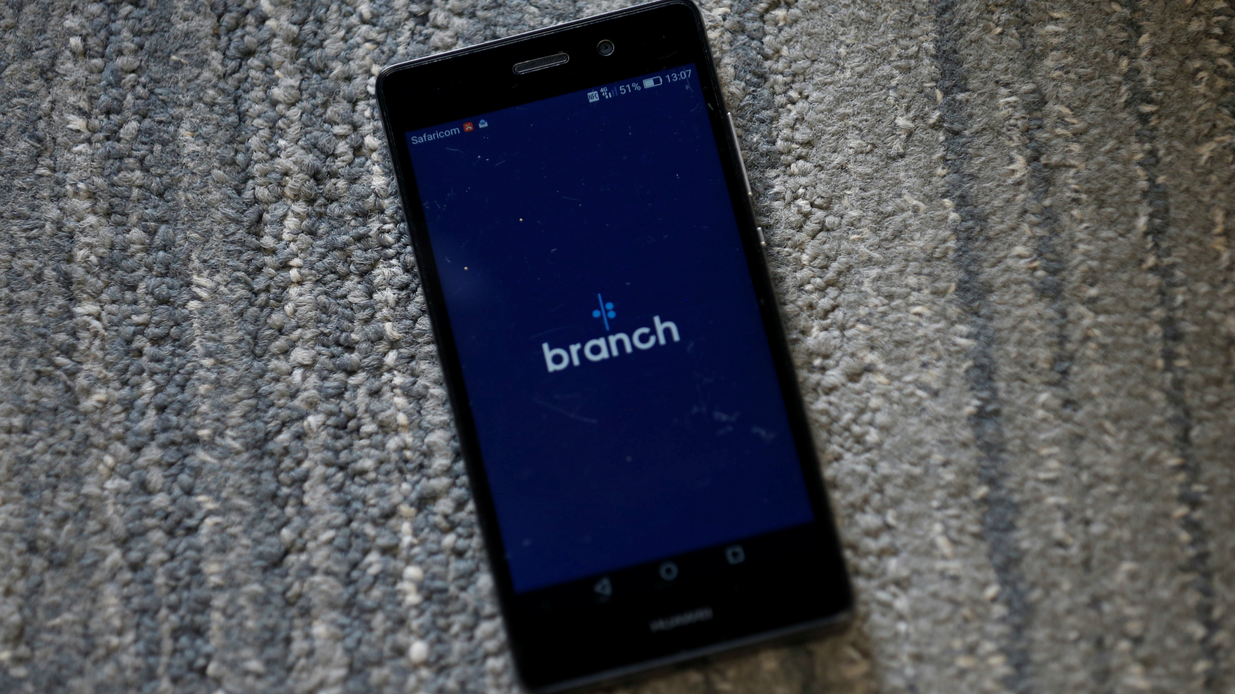 Branch app, an online financial micro lending platform is seen on a mobile phone in this photo illustration taken May 23, 2018.