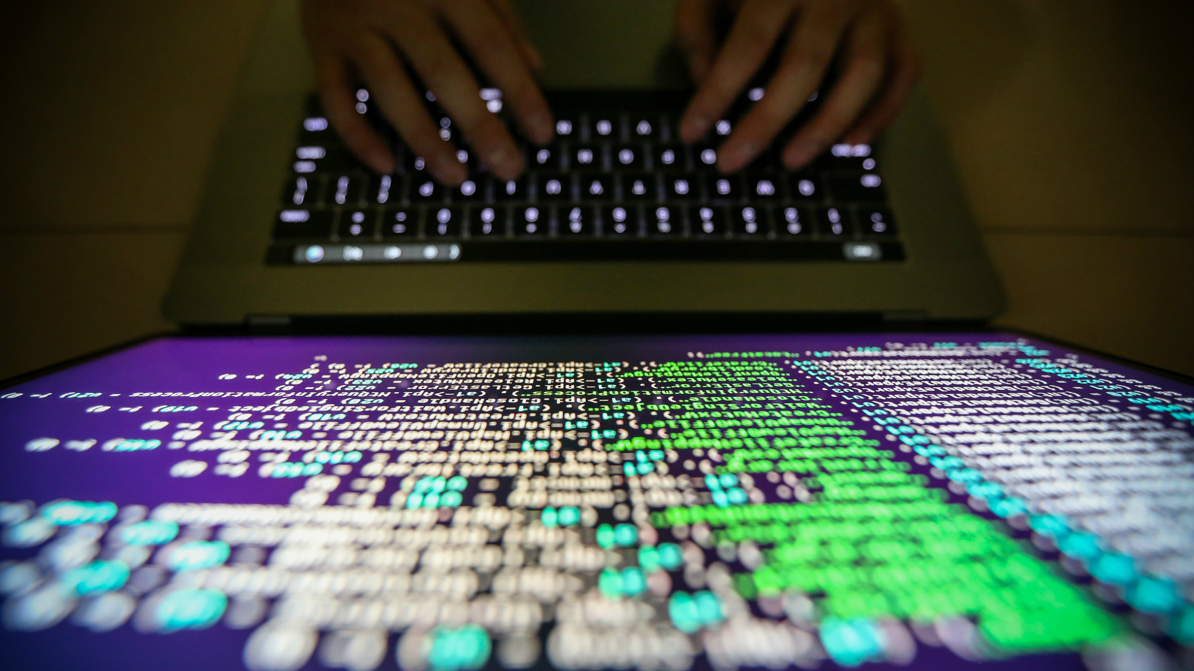 A programer shows a sample of decrypting source code in Taipei, Taiwan, 13 May 2017 (reissued 27 June 2017). According to news reports, companies around the world on 27 June 2017 are reporting they are being hit by a major cyber-attack.
