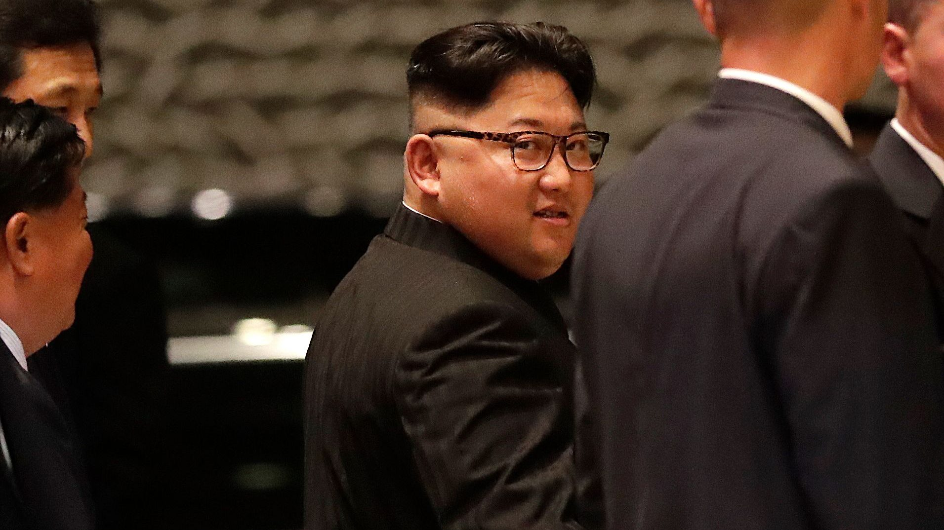 North Korean leader Kim Jong-un walks out from the Marina Bay Sands during a city tour in Singapore, 11 June 2018. US President Donald J. Trump and North Korean leader Kim Jong-un are scheduled to meet at the Capella Hotel in Sentosa for a historic summit on 12 June 2018.
