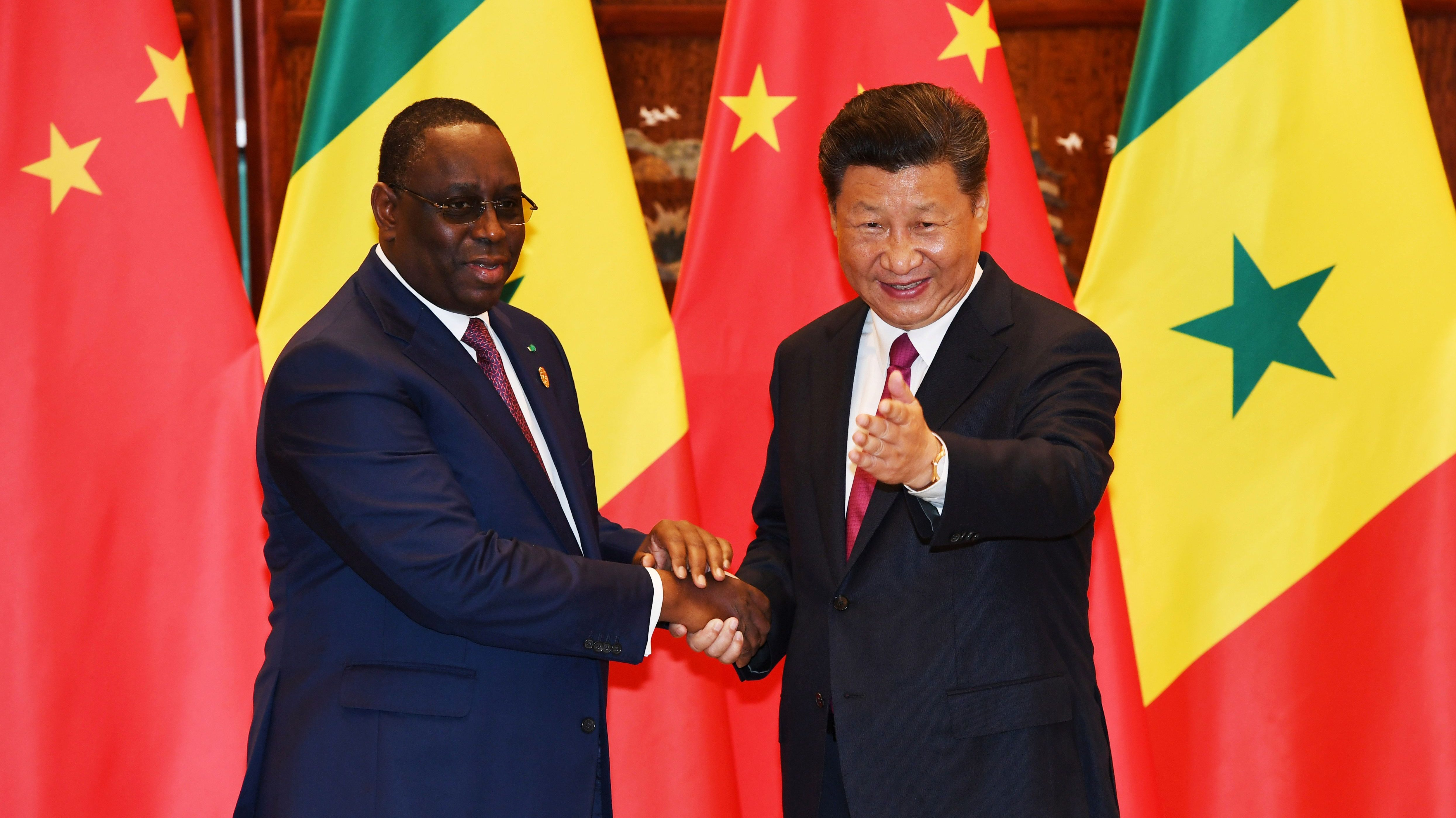 China's President Xi Jinping meets with Senegalese President Macky Sall in Hangzhou