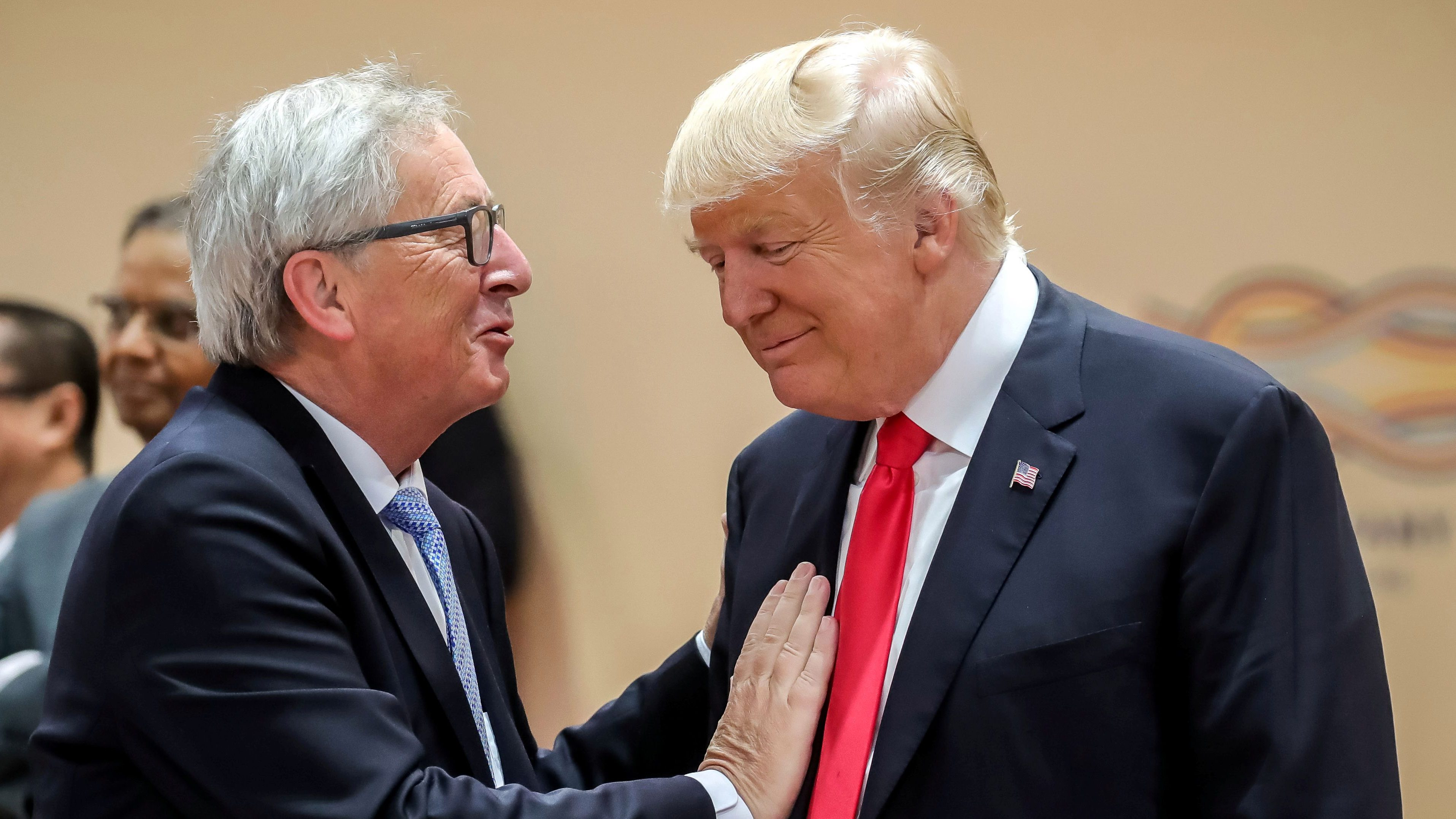 Image result for European Commission President Jean-Claude Juncker + trump