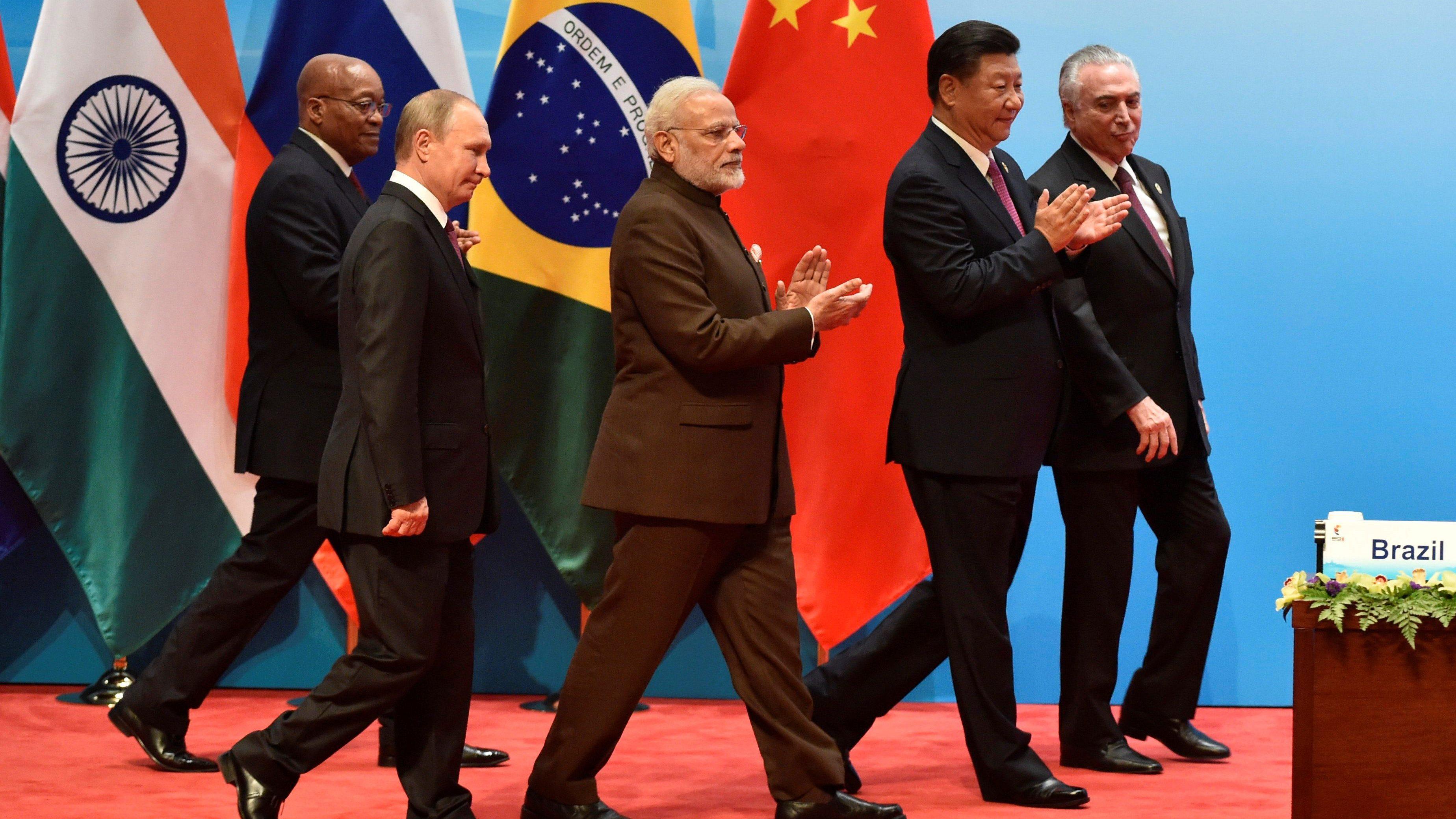 BRICS leaders attend the BRICS summit in Xiamen, China