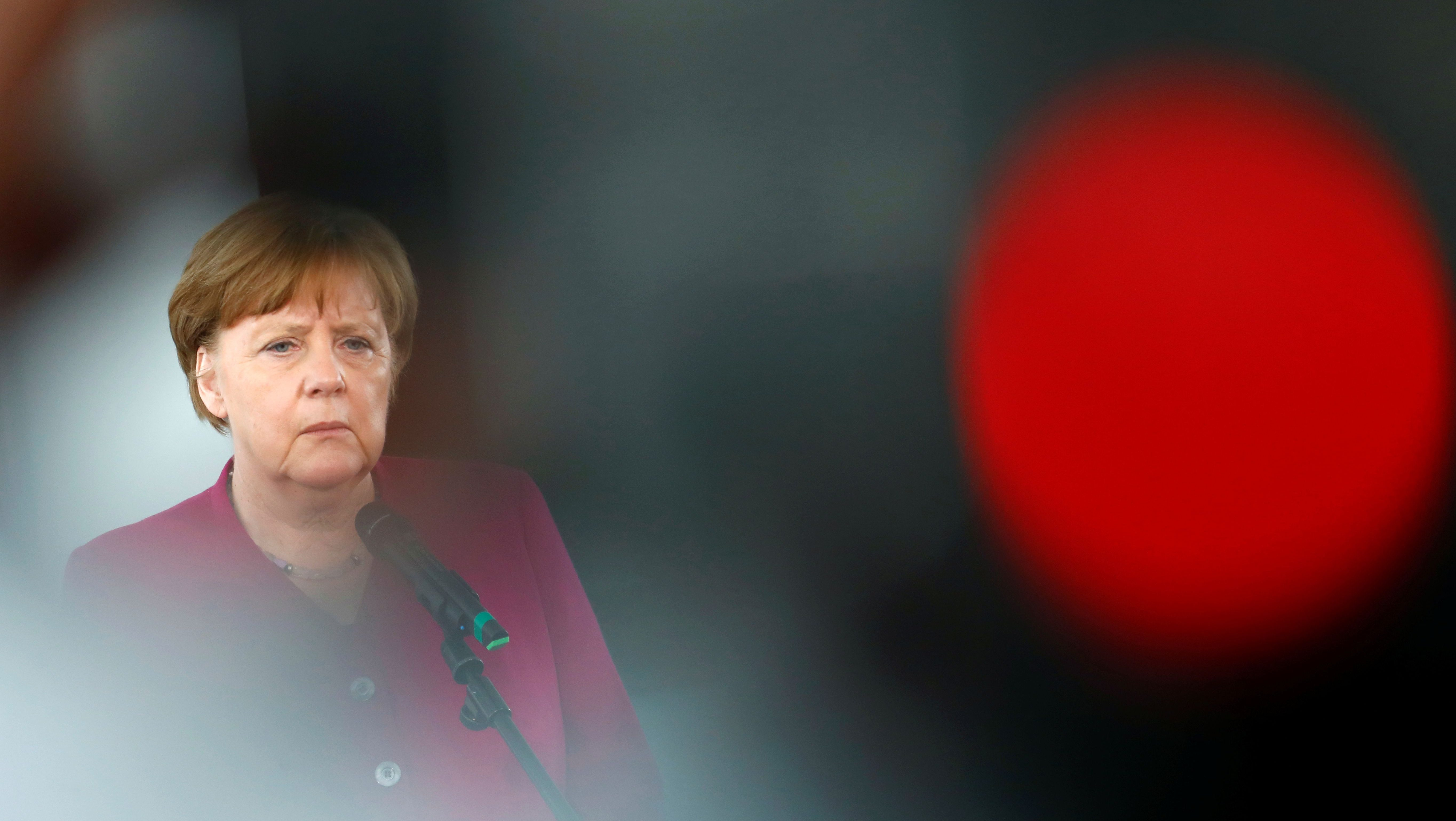 German Chancellor Angela Merkel had to reduce her refugee policy