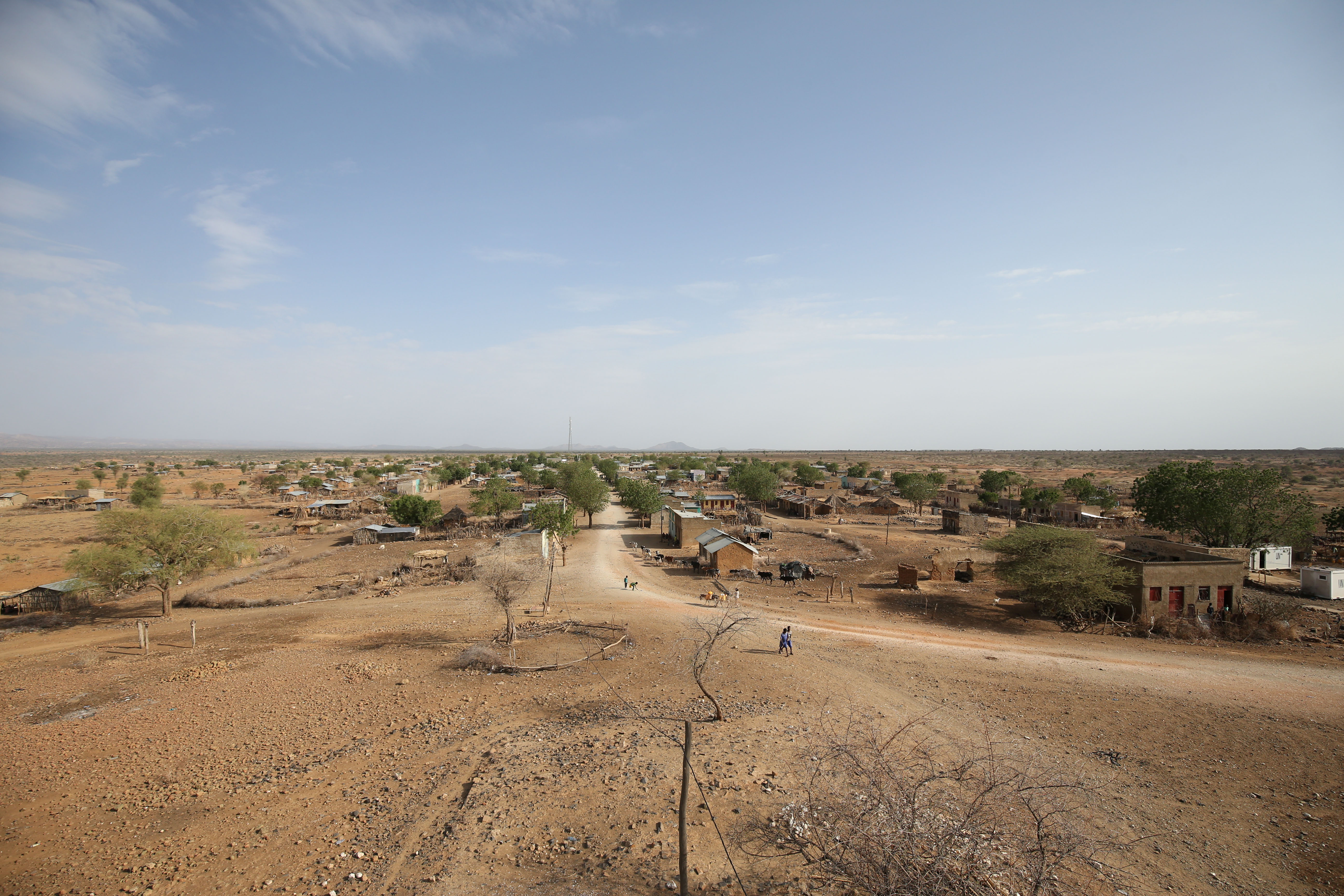 A general view shows Badme, a territorial dispute town between Eritrea and Ethiopia currently occupied by Ethiopia, June 8, 2018. Picture taken June 8, 2018.
