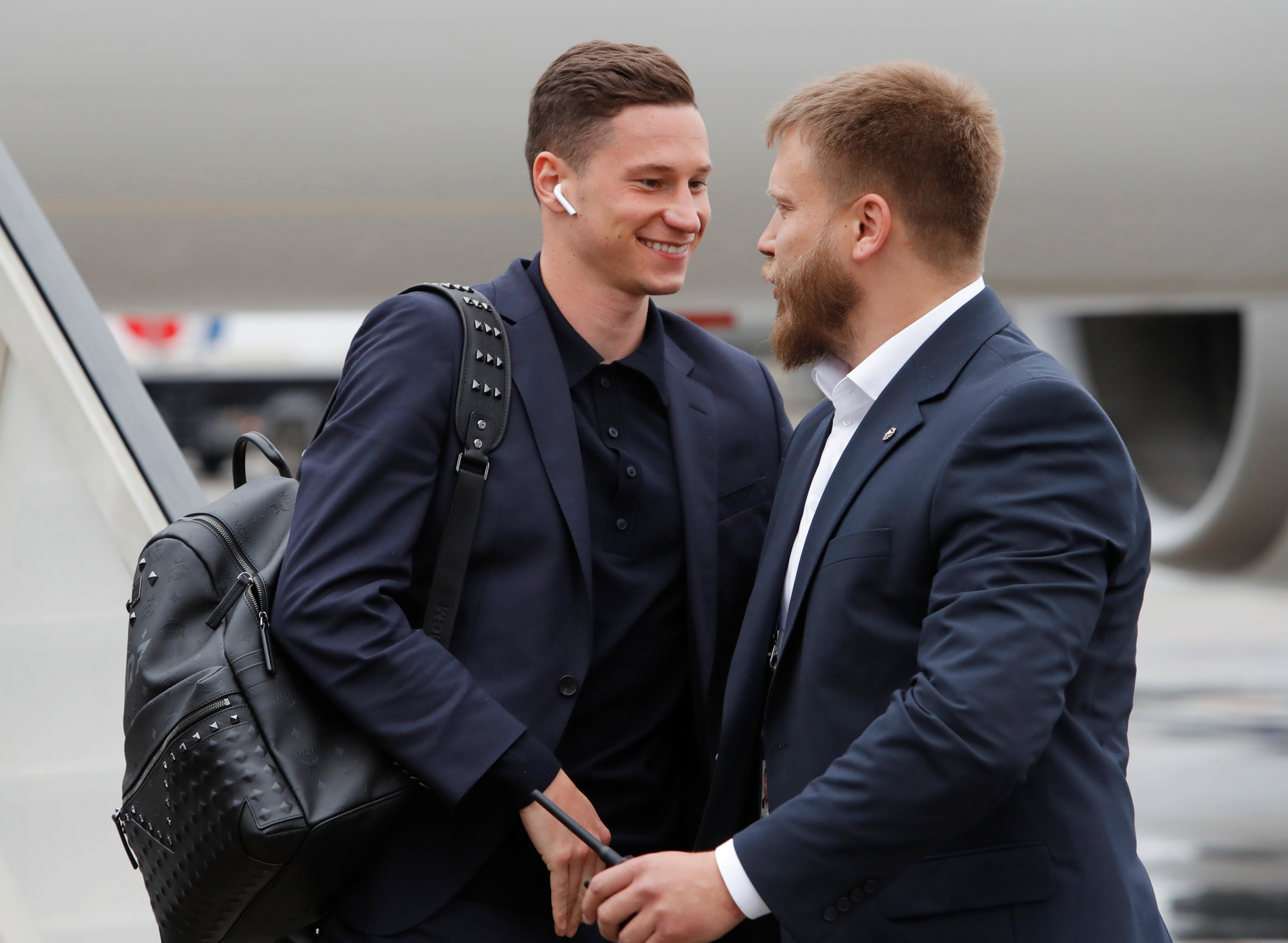 Soccer Football - World Cup - Germany Arrival - Vnukovo International Airport, Moscow, Russia - June 12, 2018 Germany's Julian Draxler as they arrive in Moscow REUTERS/Sergei Karpukhin - RC15CA059720