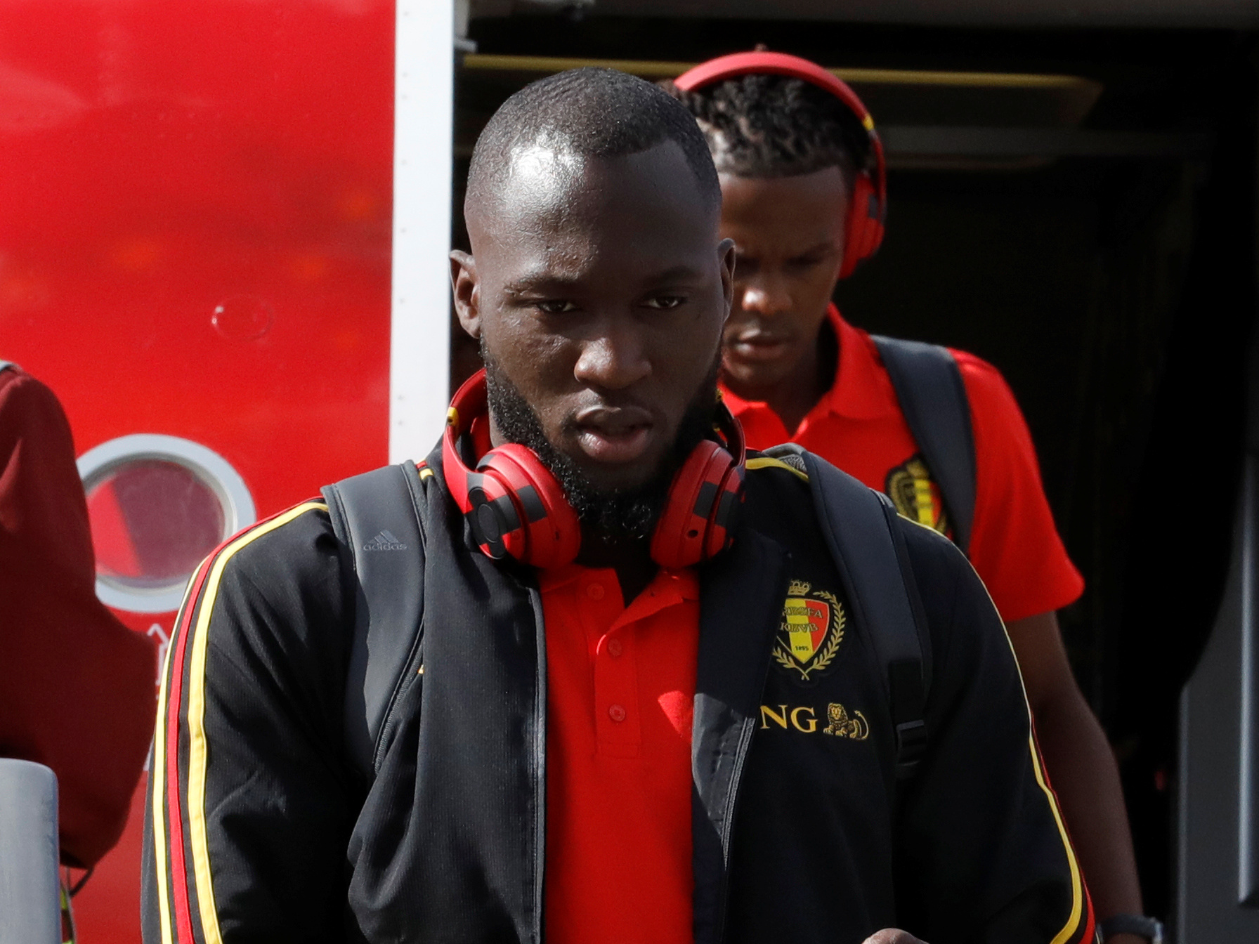 Soccer Football - World Cup - Belgium Arrival - Sheremetyevo International Airport, Moscow, Russia - June 13, 2018 Belgium's Romelu Lukaku during the arrival in Moscow REUTERS/Tatyana Makeyeva - RC19673CC520