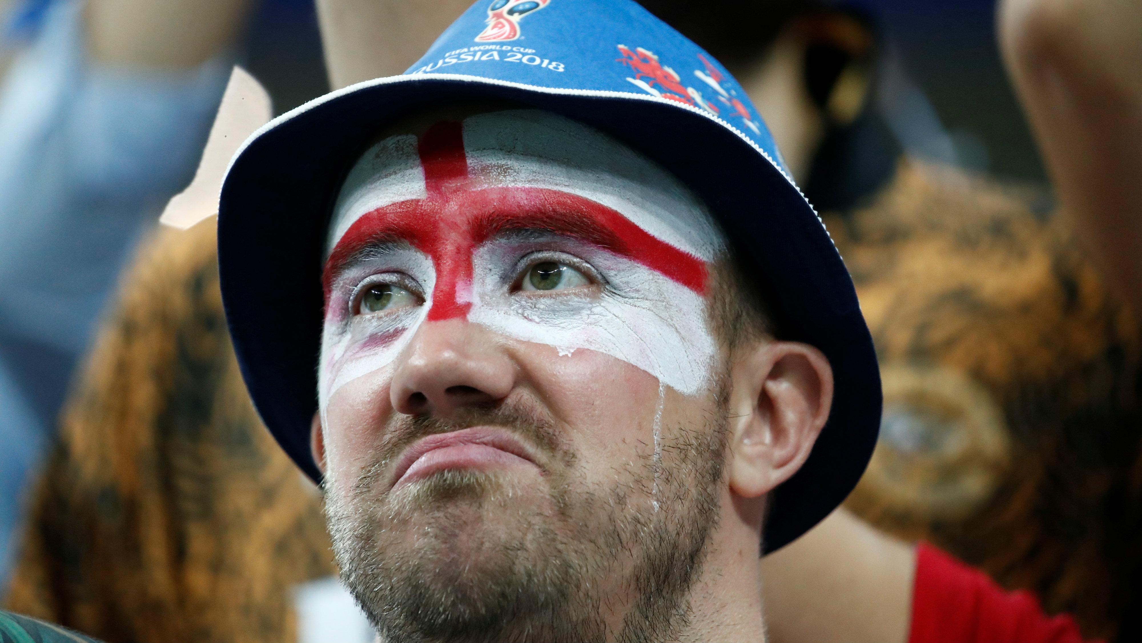 A sad English football fan