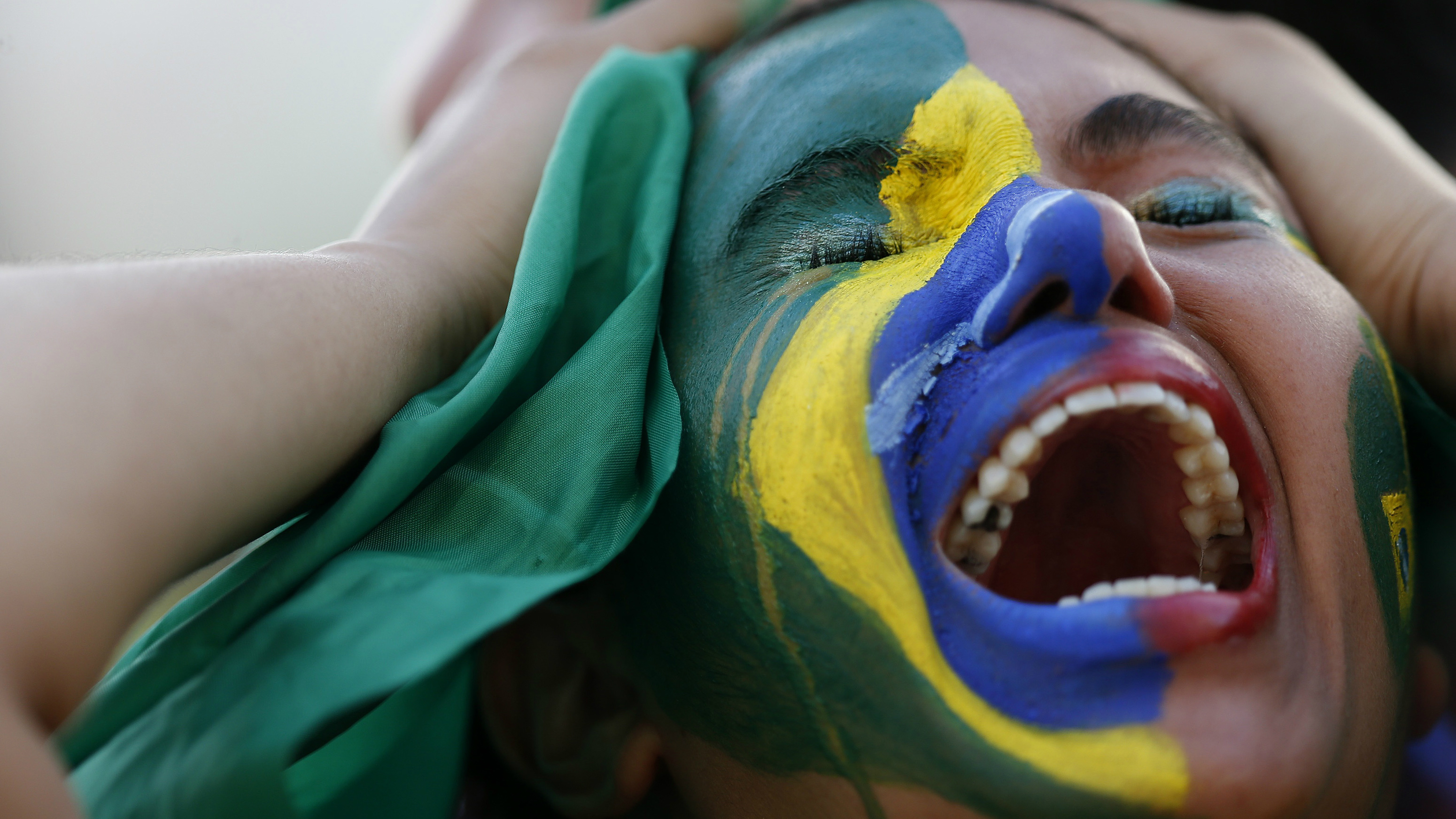 A sad Brazilian soccer fan.