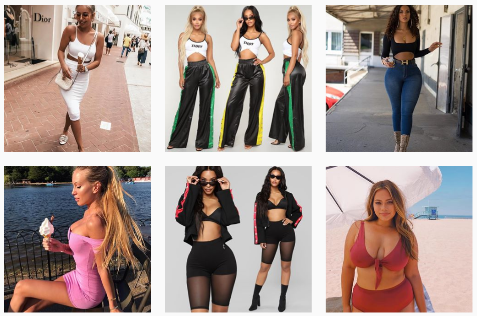 "25f3ef4ae51 Fashion Nova conquered Instagram by embracing the ""thirst trap ..."