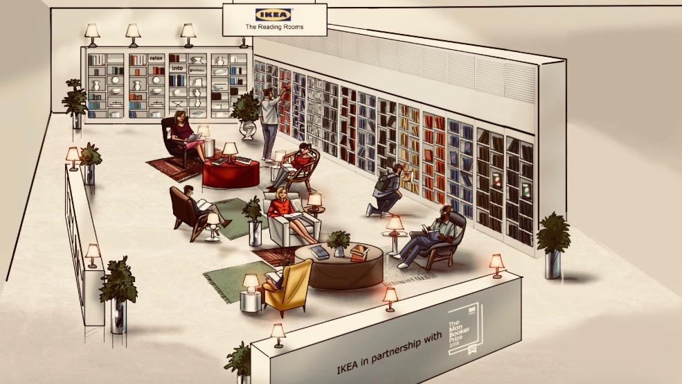 Ikea reading room.