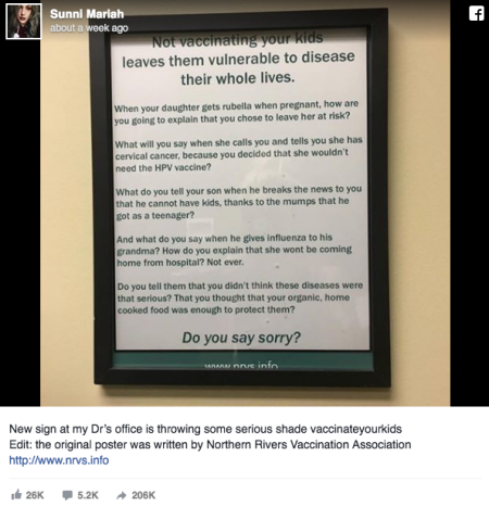 An Australian doctor's stark note to parents is a