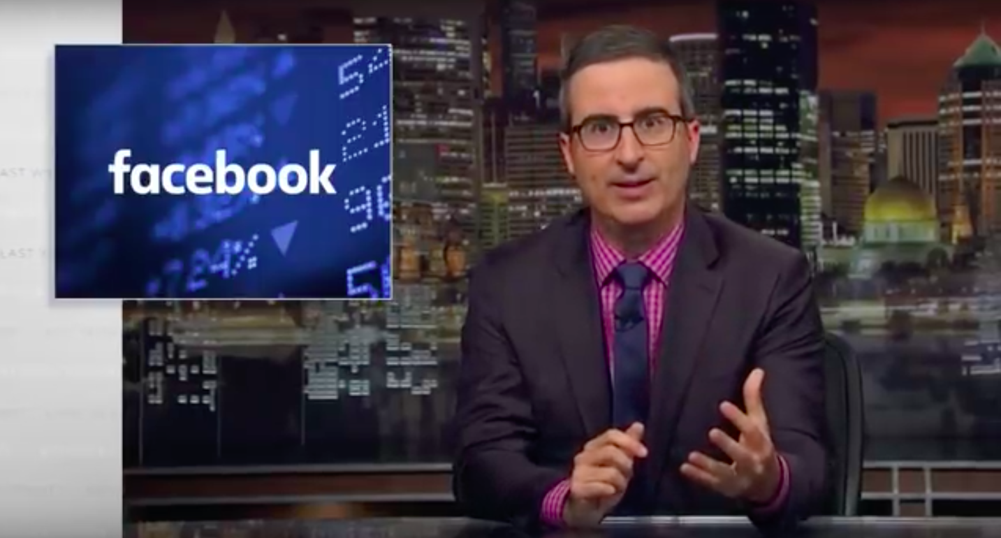 John Oliver's version of Facebook's TV apology ad is brutal