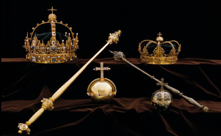 Swedish crown jewels.