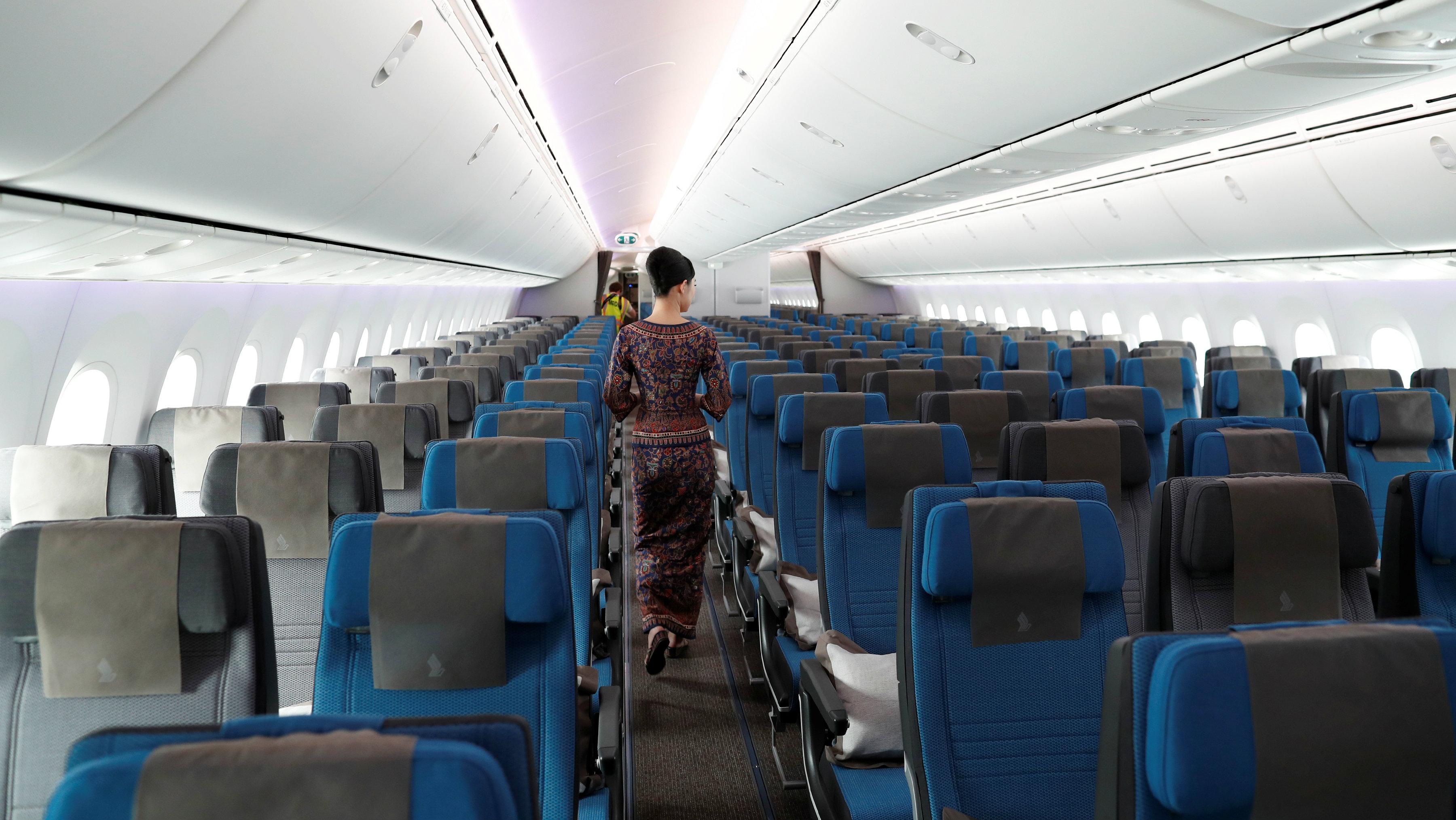 Dreamliner cabin stewardess