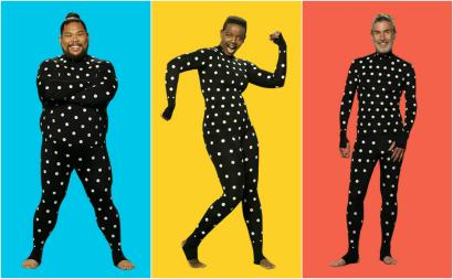 46e602d37d0 A Japanese retailer is using this polka-dot suit to bring its custom-fit  clothes to the world