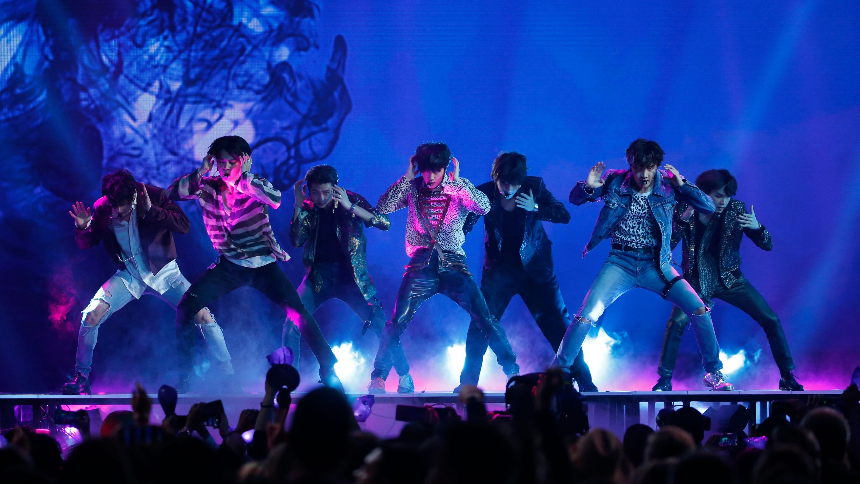 "2018 Billboard Music Awards - Show - Las Vegas, Nevada, U.S., 20/05/2018 - BTS performs ""Fake Love."""