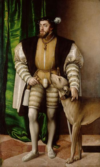 Jakob Seisenegger's Portrait of Emperor Charles V with Dog (1500-1558)
