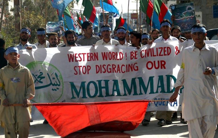 Protest against Prophet Muhammad cartoons
