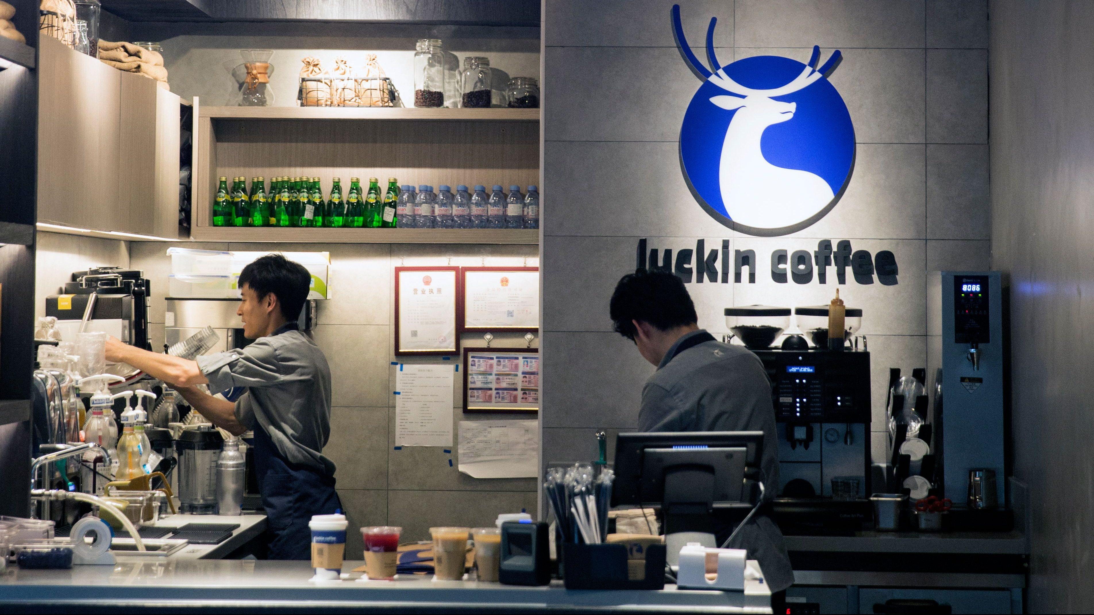 """Résultat de recherche d'images pour """"lucky coffee chine"""""""