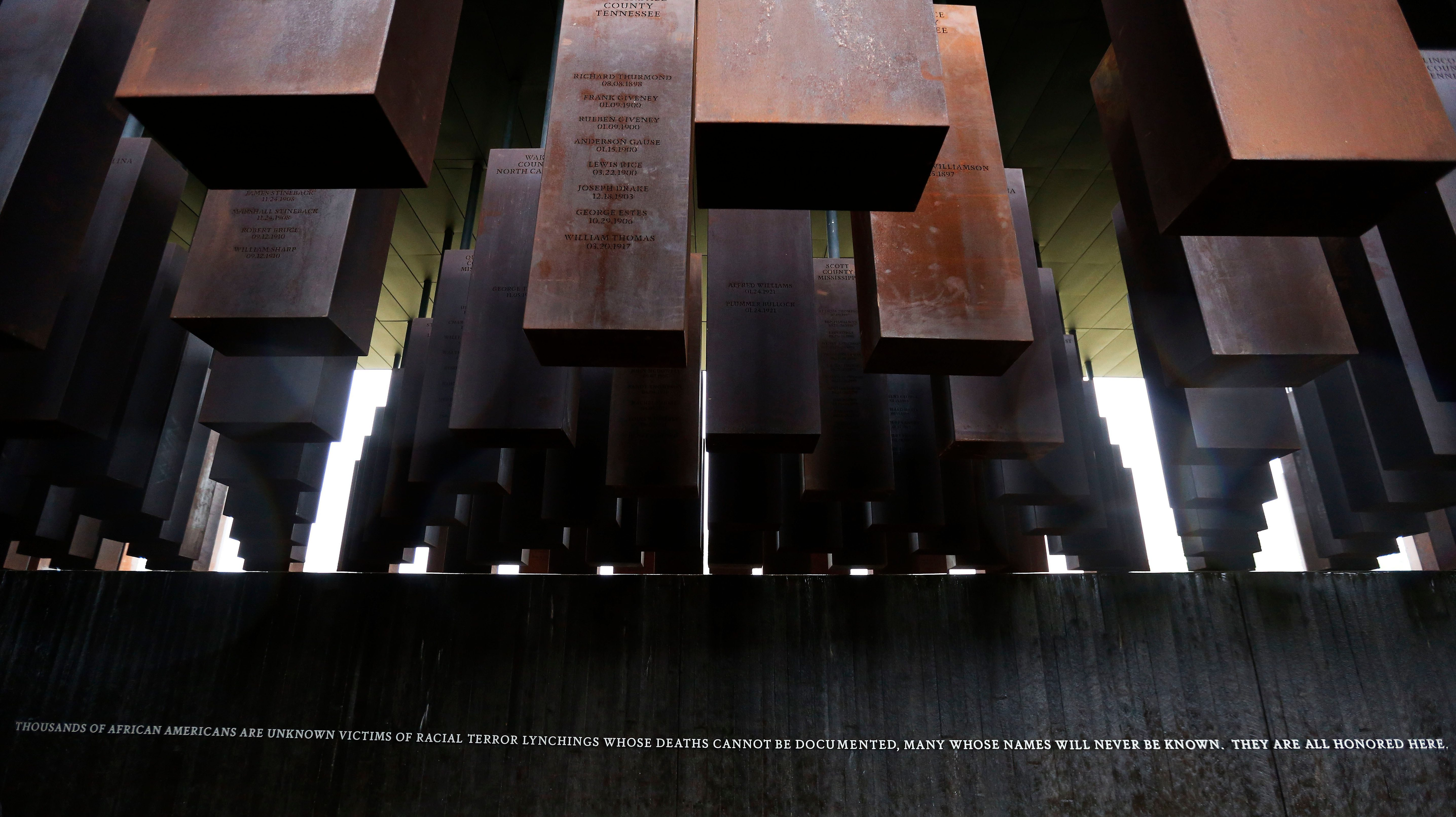 National Memorial for Peace and Justice is a memorial in Alabama that honors thousands of people killed in racist lynchings.
