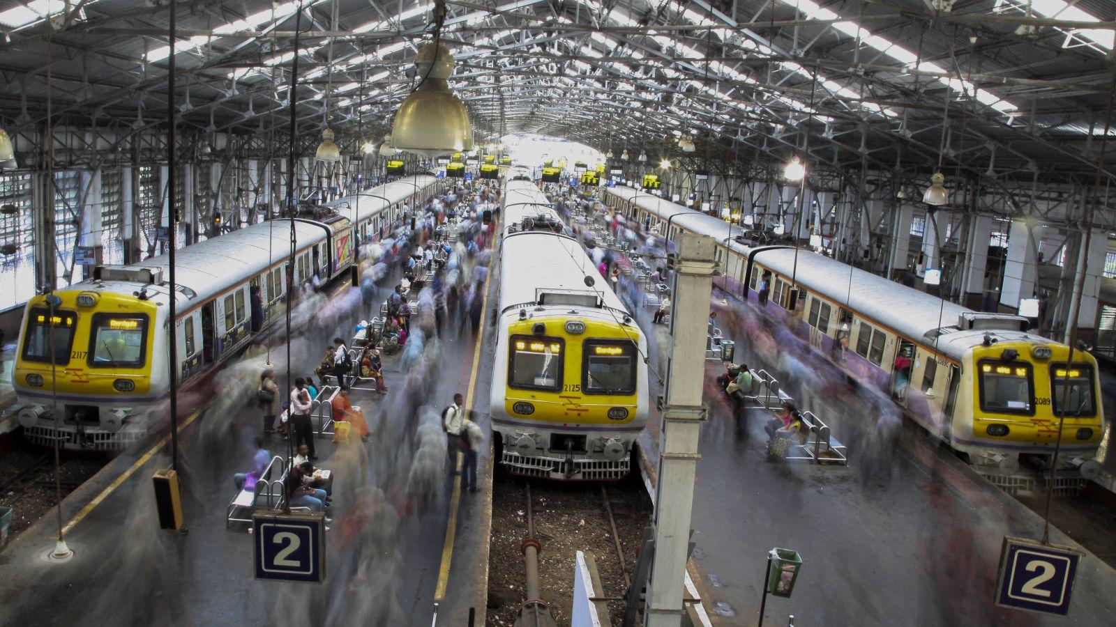 Braving Mumbai's local trains during monsoon peak hours