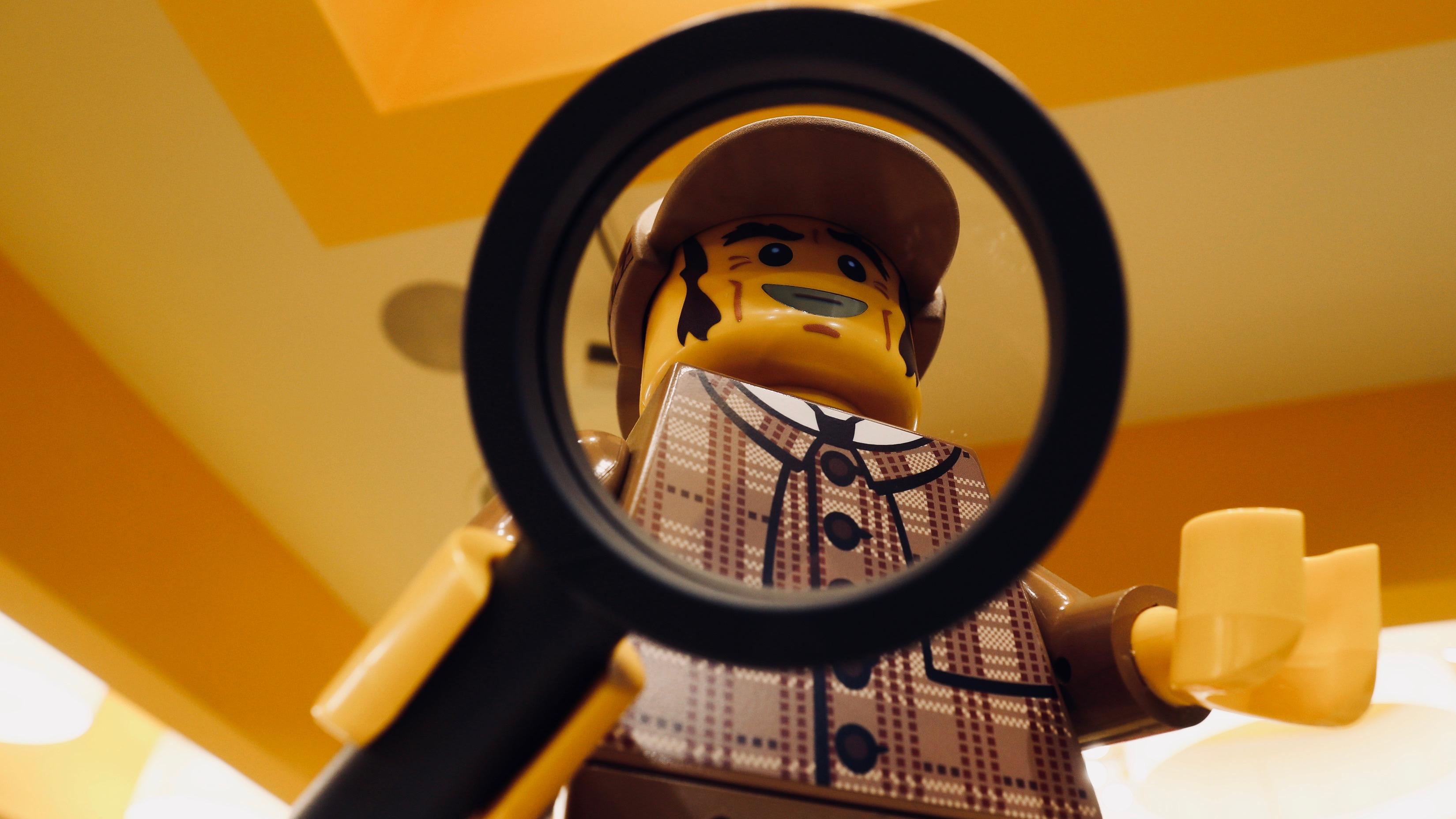 Giant Lego Sherlock Holmes.