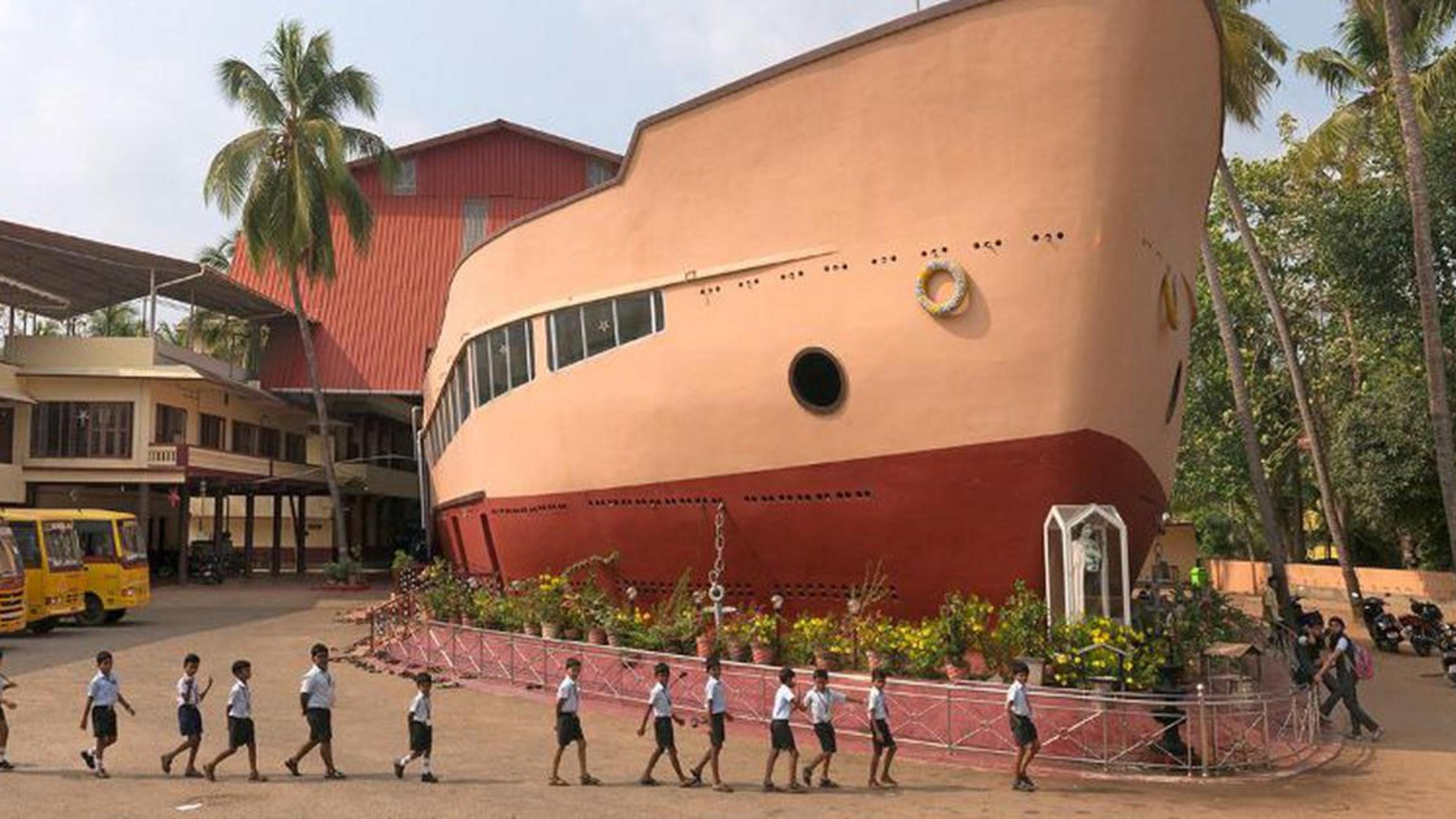 St Theresa's Ship Church in Eravu, Kerala