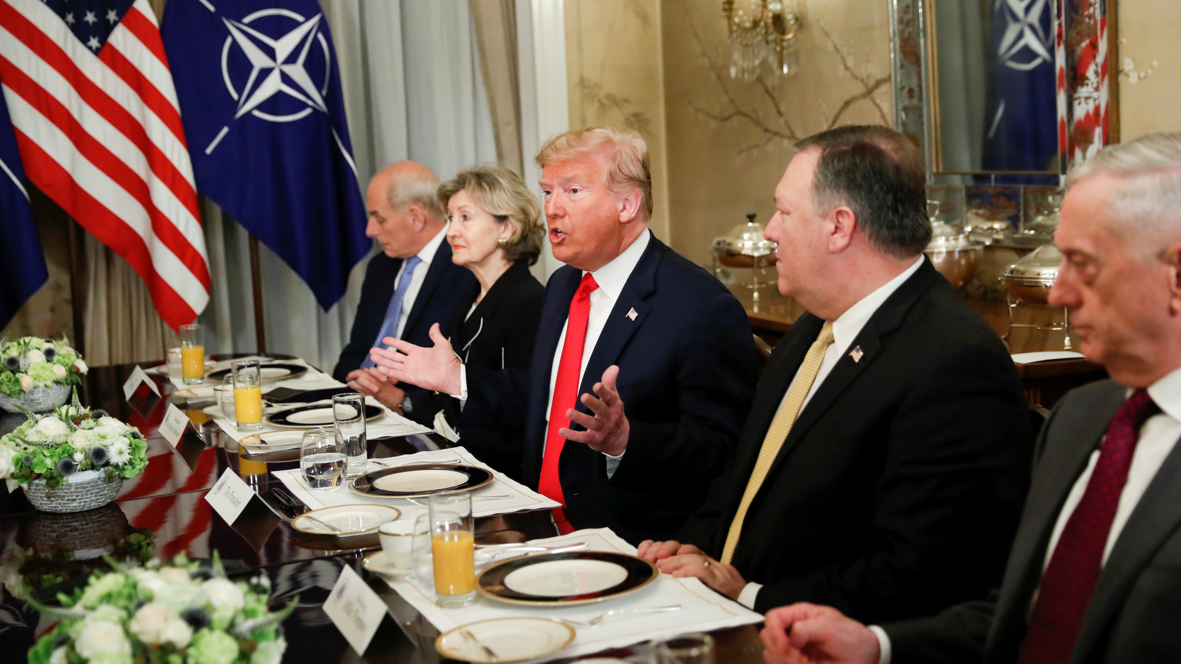 Donald Trump: NATO allies should double defence spend goal