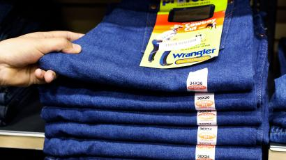 In this Feb. 4, 2011 photo, Wranglers jeans are displayed at a store in Hayward, Calif. Cotton has more than doubled in price over the past year, reaching the highest since the Civil War and the price of other synthetic fabrics has jumped almost just as much as demand for alternatives and blends has risen. (AP Photo/Paul Sakuma)