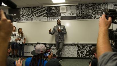 "d811b23194d LeBron James  docu-series ""Shut Up and Dribble"" will assert the moral  authority of athletes"