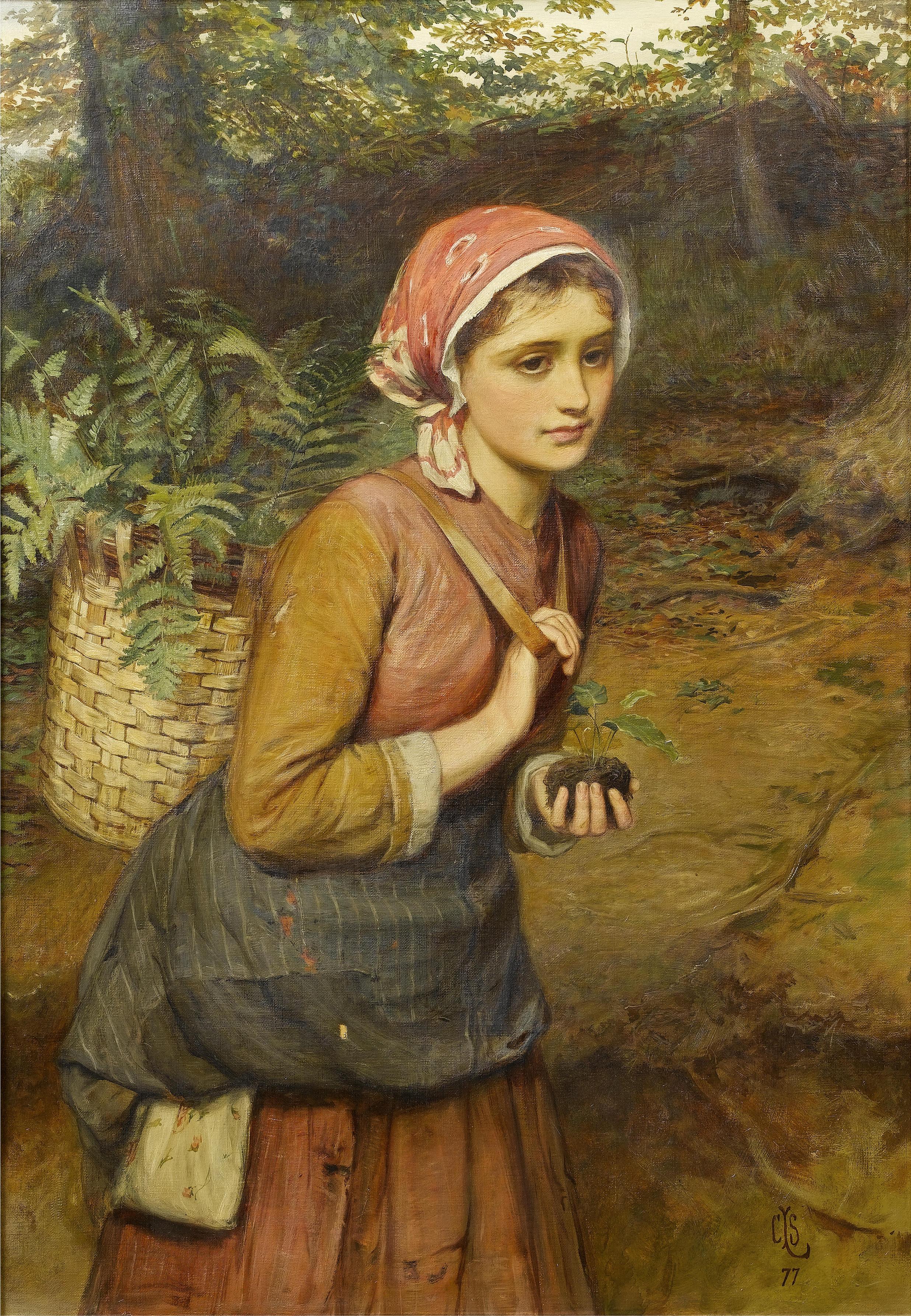 Charles Sillem Lidderdale: The fern gatherer, 1877.
