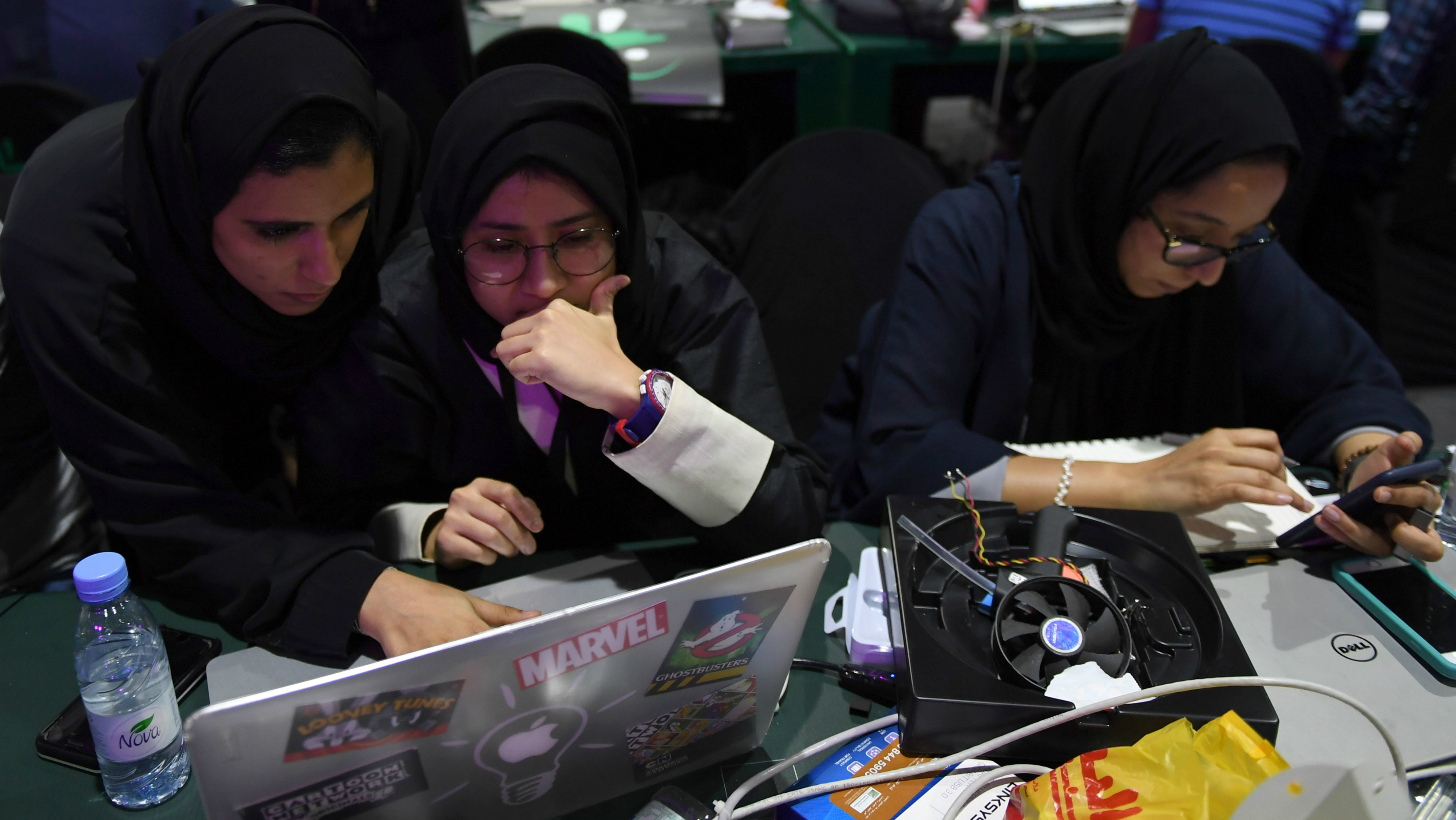 Female participants in the Haj Hackathon.