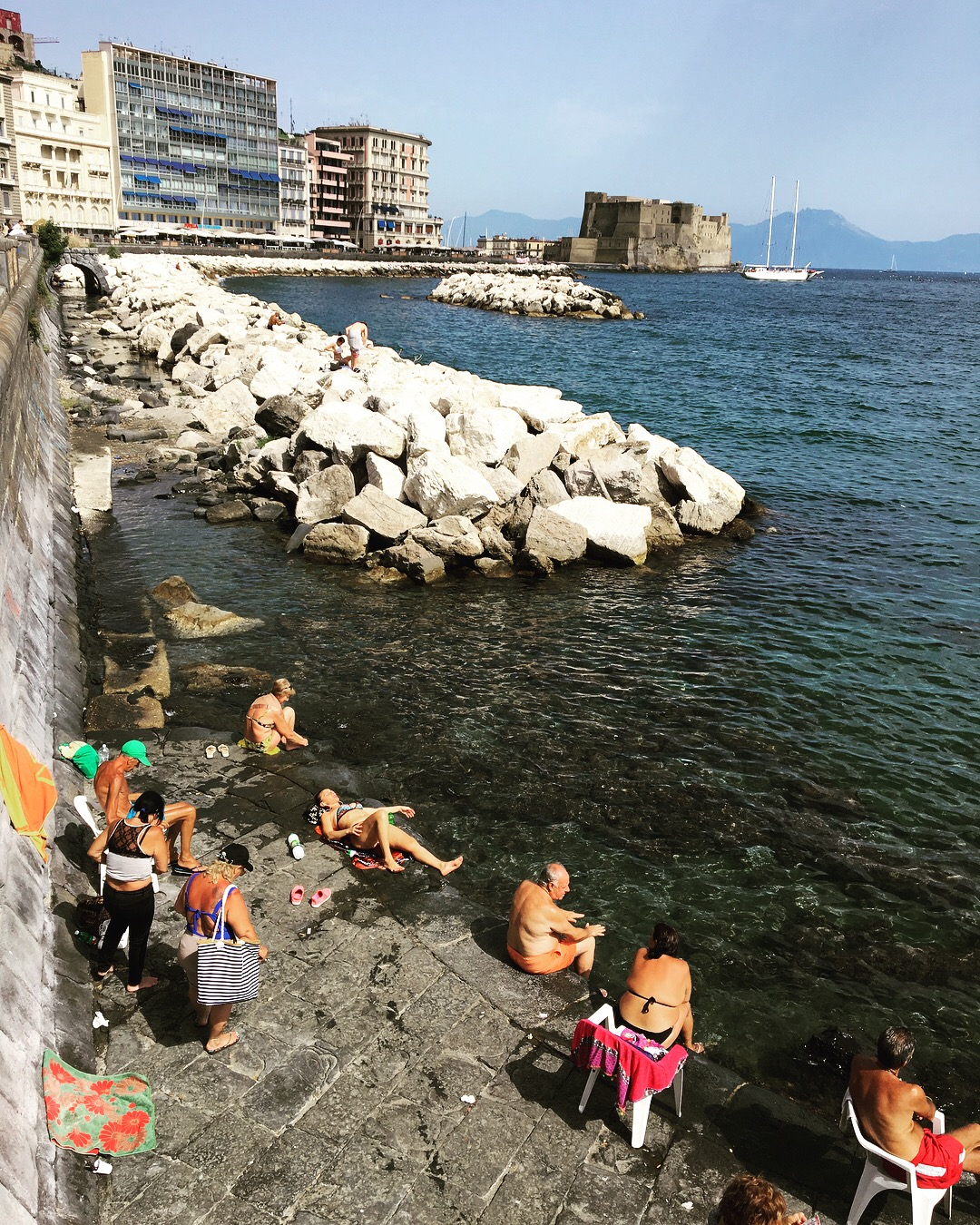 People swimming in Naples
