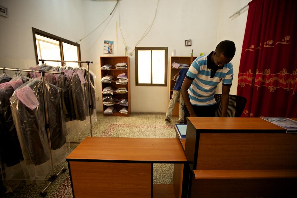 Mohamed Mohamoud Sheikh Ali at the Somalia Premium Laundry in Mogadishu