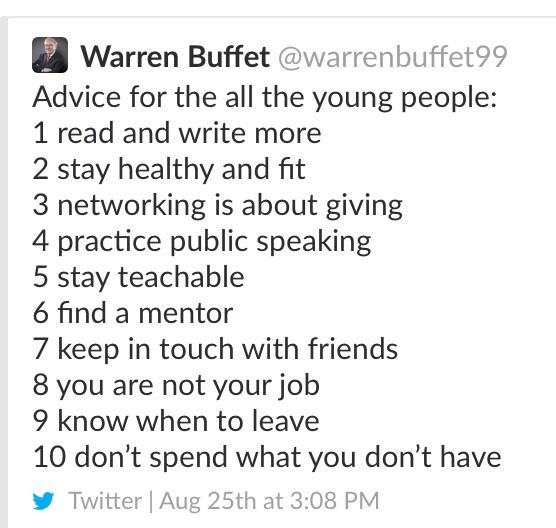 A fake Warren Buffett Twitter account is spewing life advice ...
