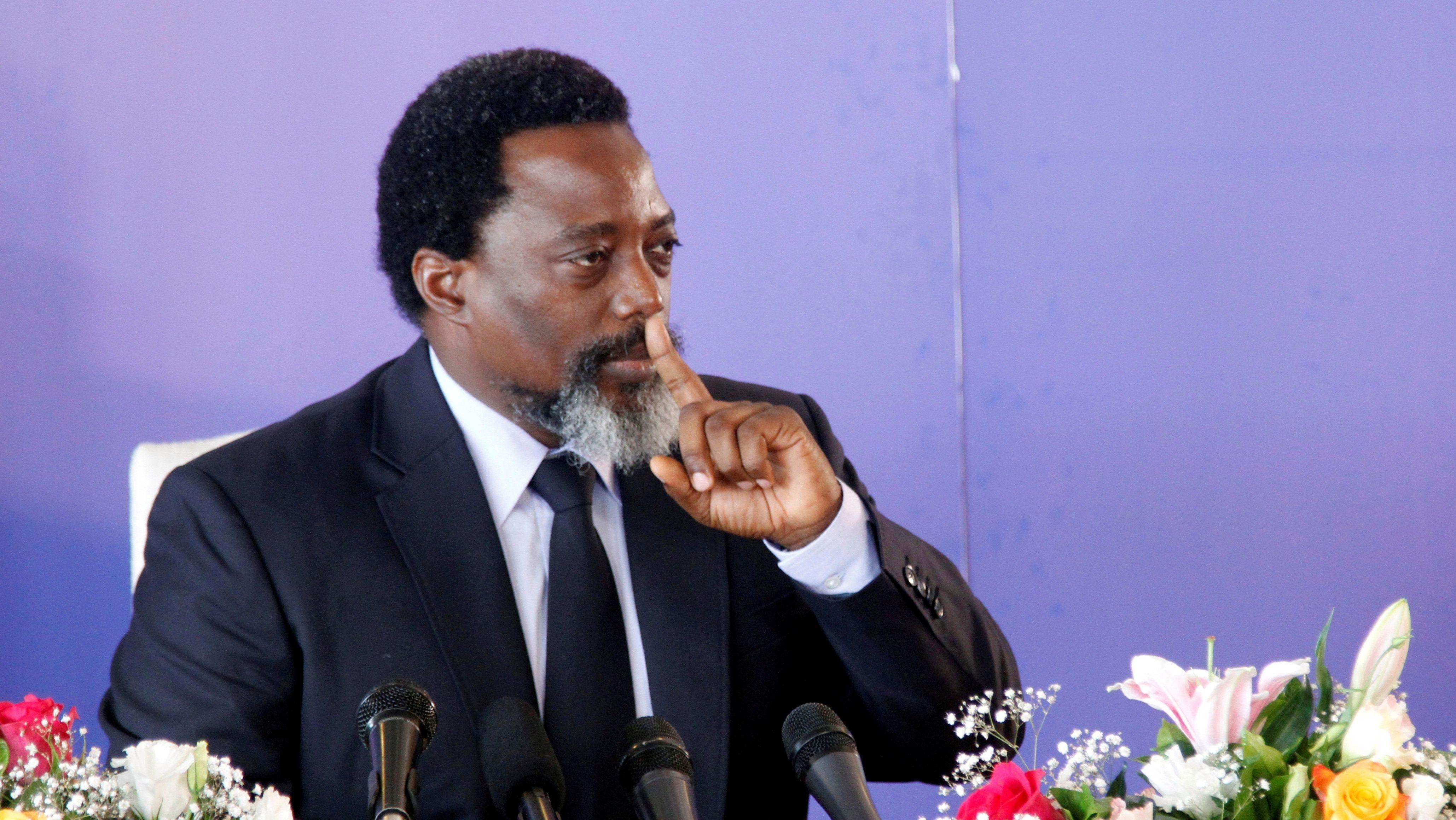 FILE PHOTO: Democratic Republic of Congo's President Joseph Kabila addresses a news conference at the State House in Kinshasa, Democratic Republic of Congo January 26, 2018.