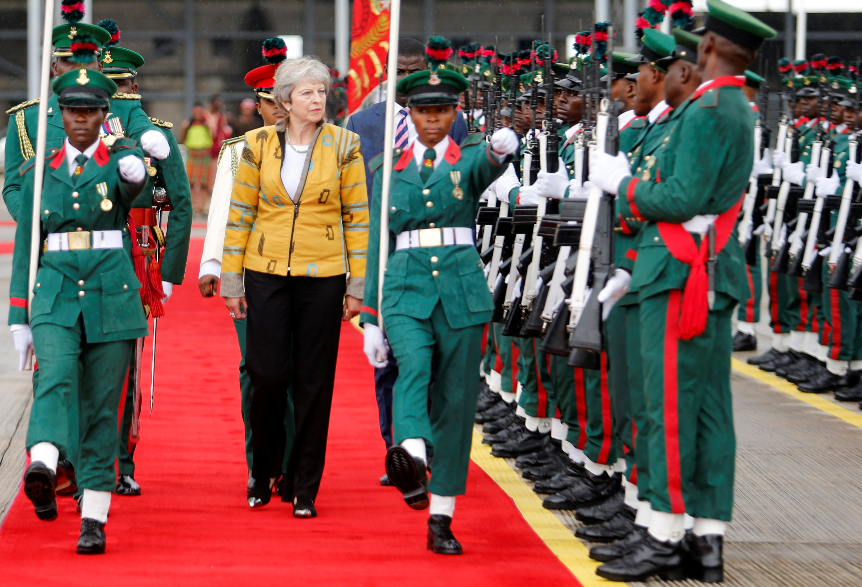 UK prime minister Theresa May in Nigeria