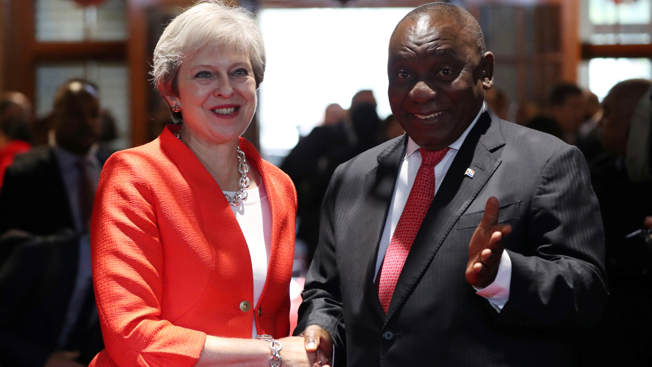 Brexit: Theresa May backs South Africa land reform