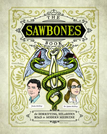 The cover of the Sawbones book.