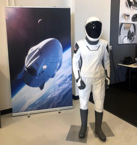 """SpaceX's """"neat"""" spacesuit on display."""