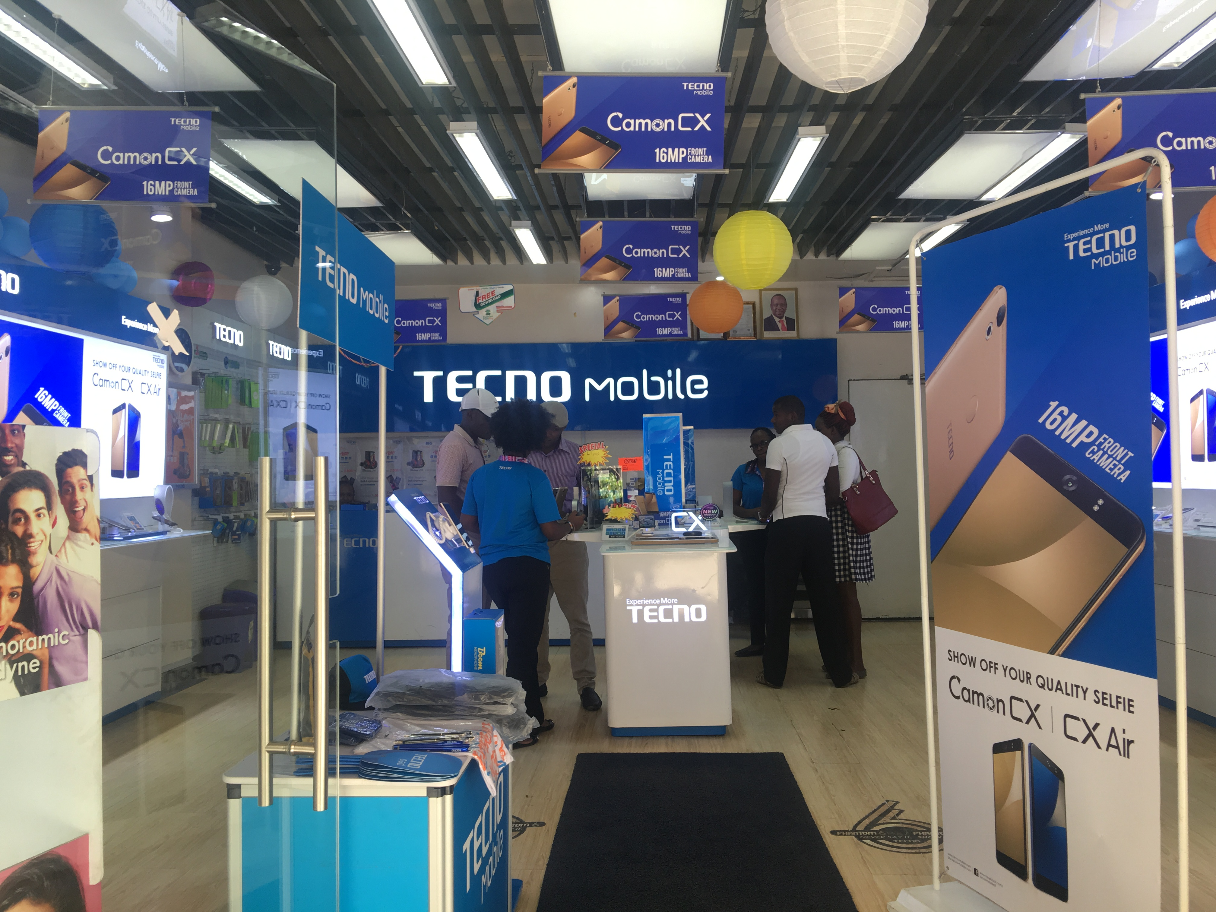 A store by Transsion's TECNO brand in Kenya