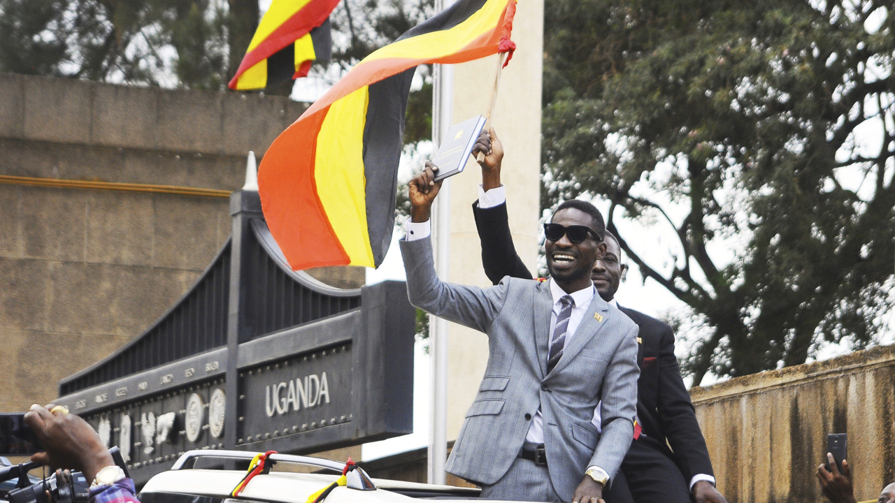 Ugandan singer turned politician Bobi Wine appears in court with signs of torture