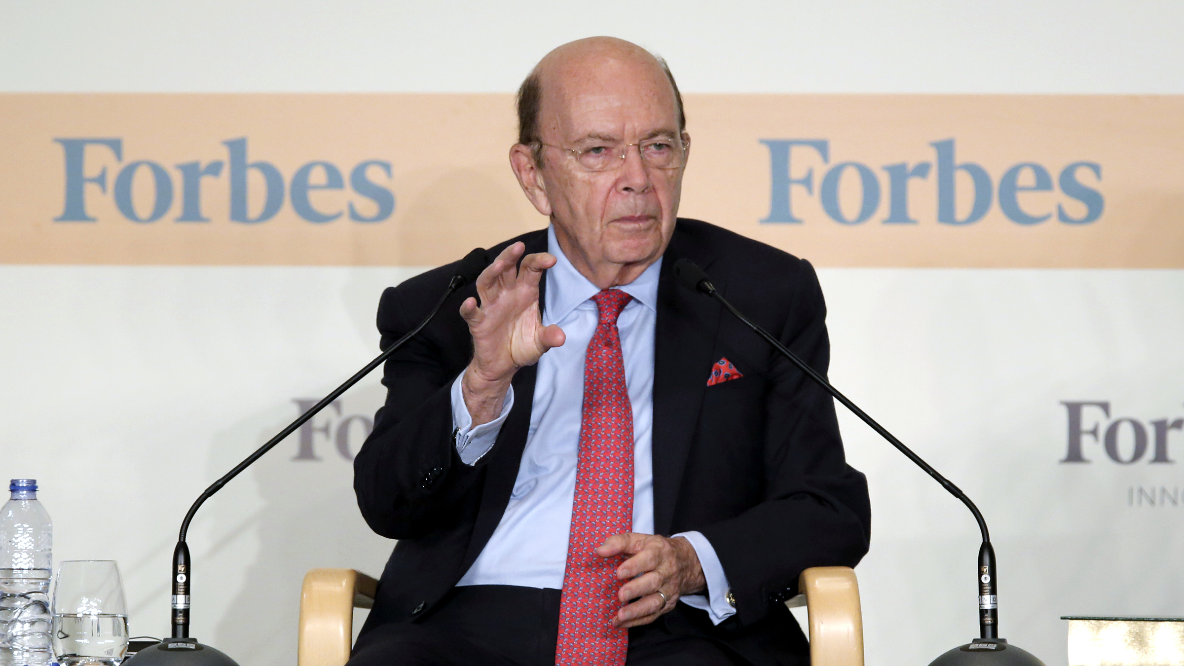 U.S. Secretary of Commerce Wilbur Ross attends the Forbes Global CEO Conference in Hong Kong, Tuesday, Sept. 26, 2017.