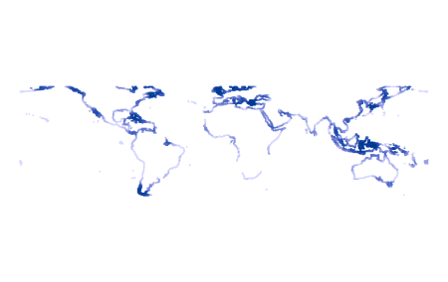 Coastal connectivity around the world