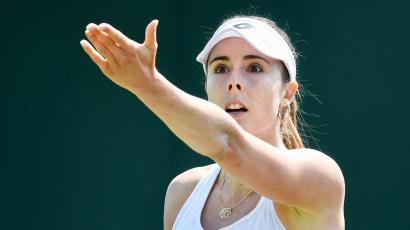 France's Alize Cornet protests a referee's call.