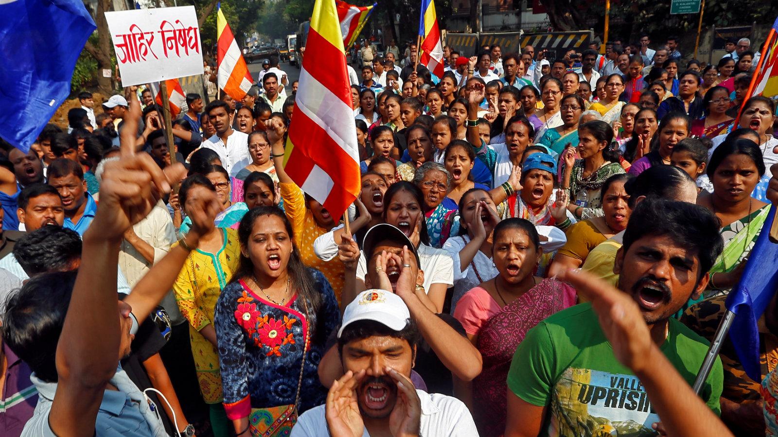 Dalit-protest-India-Bhima-koregaon
