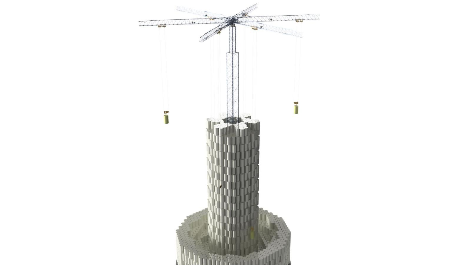 Swiss startup Energy Vault is stacking concrete blocks to